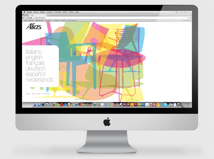 Alias Salone del Mobile 2010 website animation