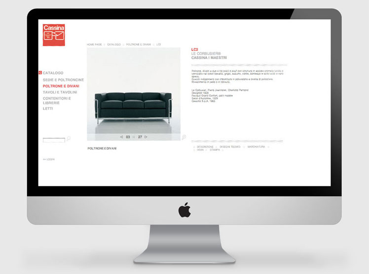 Cassina website