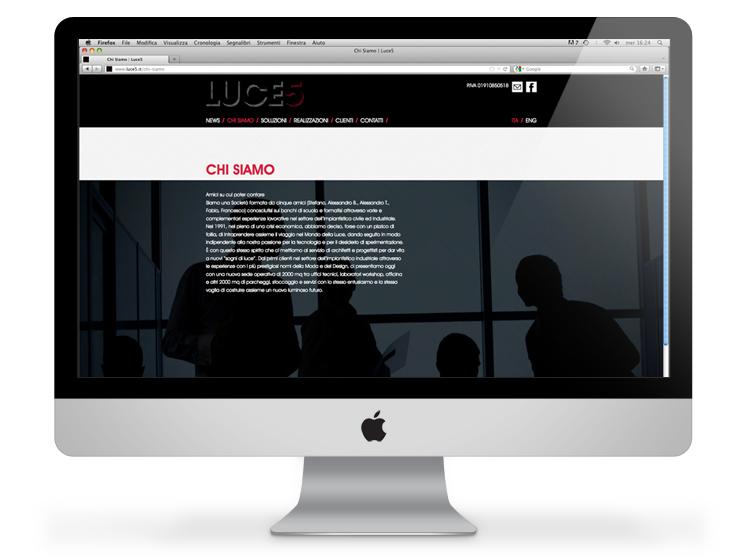 Luce5 website - chi siamo