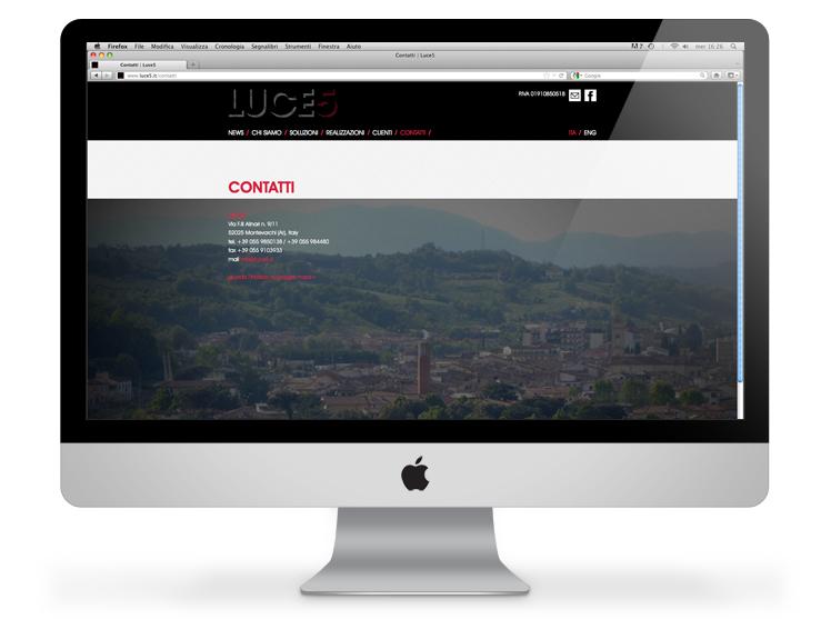Luce5 website - contatti