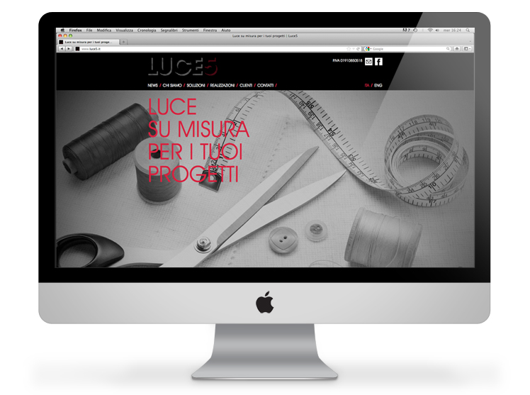 Luce5 website homepage