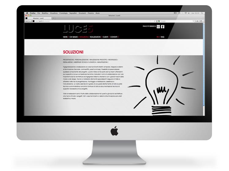 Luce5 website - soluzioni