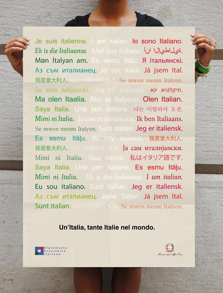 Un'Italia, tante Italie nel mondo, poster