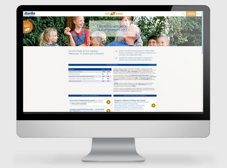 Barilla Rapporto di sostenibilita 2013 website