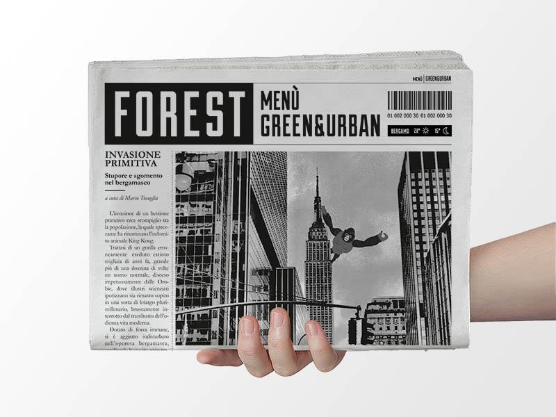 Forest Newspaper Menu
